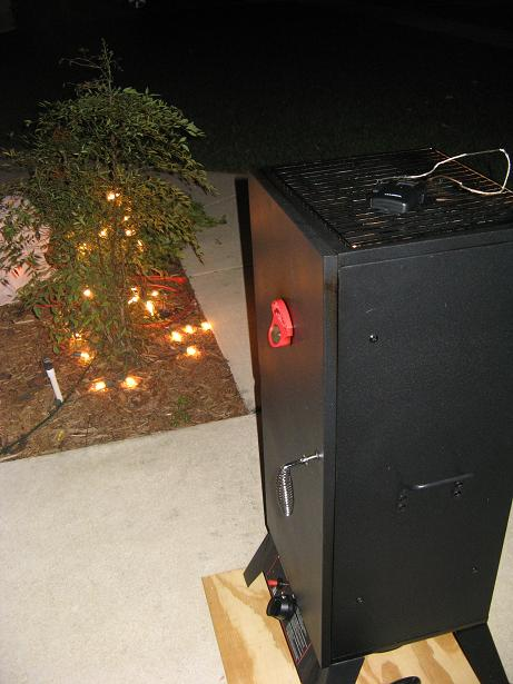 Cold Weather in Florida - Smoker at night.JPG