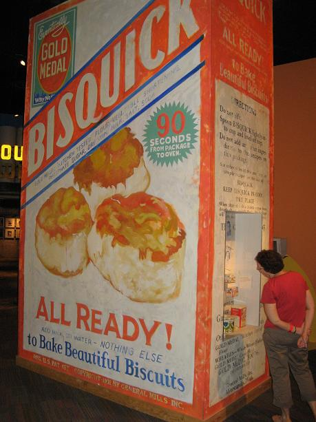 My Weird 24 Hours - Giant Box Of Bisquick at Mill City Museum in Minneapolis Minnesota.JPG