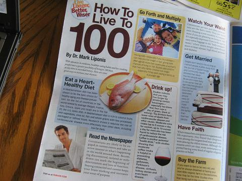 Parade Magazine - How to live to be 100.JPG